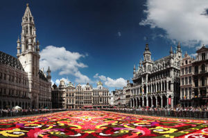 Flower display at the Brussels Grand Place