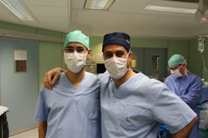 Drs Anzarut and Hamdi performing a DIEP breast reconstruction