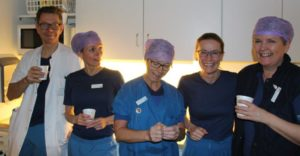 Dr. Thomas Jensen and the operating room team in Aarhus Denmark.
